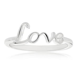 Sterling Silver Plain Love Ring