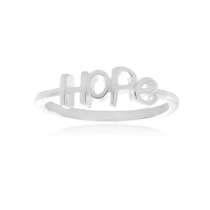 Sterling Silver Plain Hope Ring