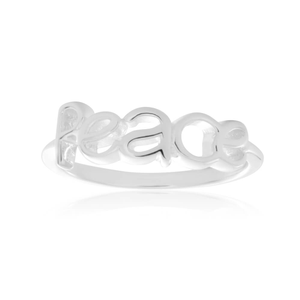 Sterling Silver Plain Peace Ring