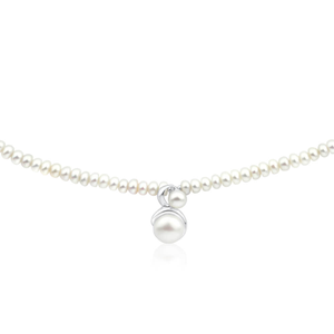White Freshwater Clasp Pearl Necklace
