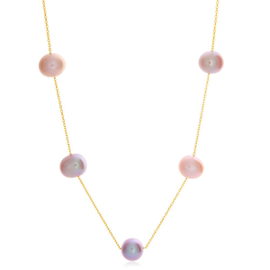 14ct Yellow Gold White Freshwater Pearl Necklace