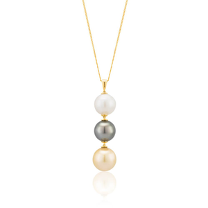 Sterling Silver Mixed Colour South Sea Pearl Pendant