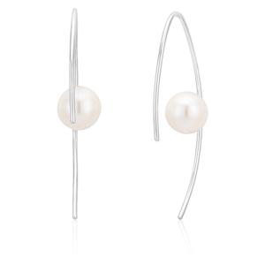 Sterling Silver Freshwater Pearl Hook Earrings