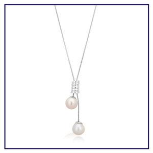 14-15mm Freshwater Pearls on Adjustable Fancy Sterling Silver Chain