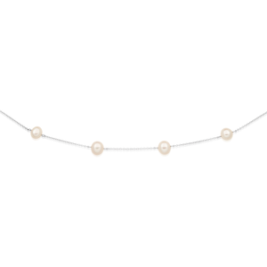 Freshwater Pearls on Sterling Silver 45cm Chain