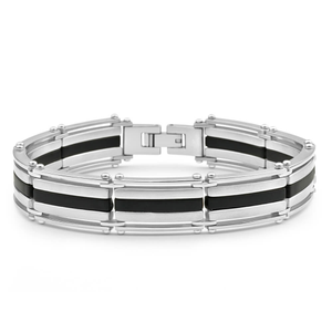 Forte Stainless Steel Forte Stripe 21cm Fancy Bracelet