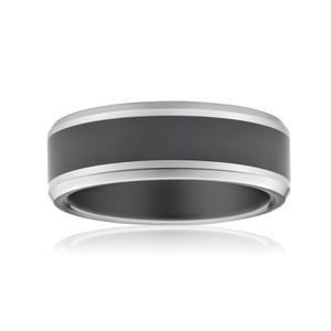 Forte Tungsten Black Centre Ring