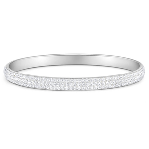 Stainless Steel 6mmx65mm Crystal Bangle