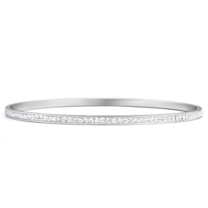 Stainless Steel 1 Row Crystal Bangle