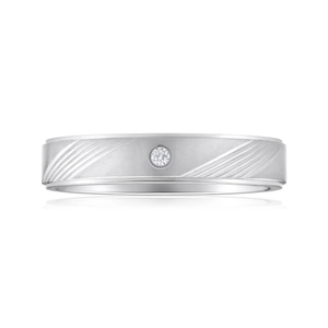 Forte Stainless Steel Fancy Diamond Ring