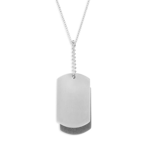 Forte Stainless SteelDouble  Dog Tag Pendant