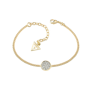 Guess Gold Plated Round Crystal Bracelet