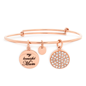 Gold Plated Crystal My Beautiful Mum Bangle