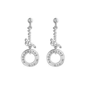 Guess Silver Plated Drop Earrings