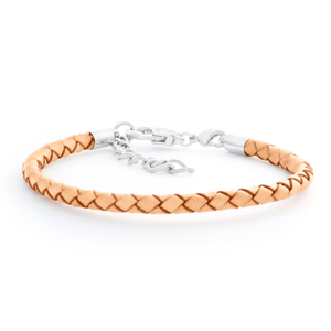Champagne Leather Bracelet