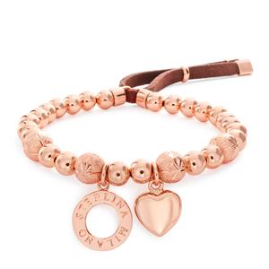 Sterlina Milano Rose Gold Plated Bead Fancy Bracelet