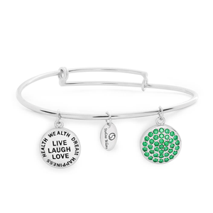 Sterlina Milano Emerald Charm Bangle