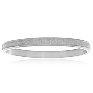 Stainless Steel Gitter Hinged 62mm Bangle