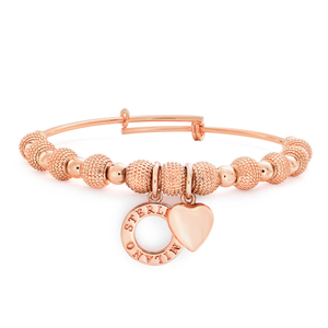 Sterlina Milano Rosegold Charm Bangle