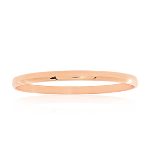 Rose Gold Plated Stainless Steel Plain Bangle