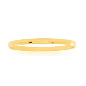 Yellow Gold Plated Stainless Steel Plain Bangle