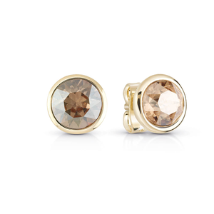 Guess Gold Plated Golden Shadow Crystal Stud Earrings