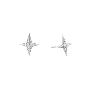 Michael Kors Stainless Steel Crystal Clear Star Stud Earrings