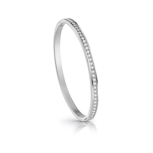 GUESS Silver Plated Crystal Pave Bangle