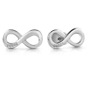 GUESS Silver Plated Plain Logo Infinity Studs