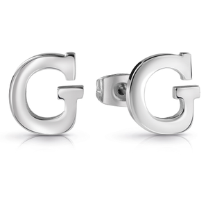 GUESS Silver Plated Plain G Letter Studs