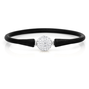 Crystal Ball 12mm Bracelet Black