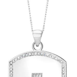 Stainless Steel Dog Tag with Cross Pendant