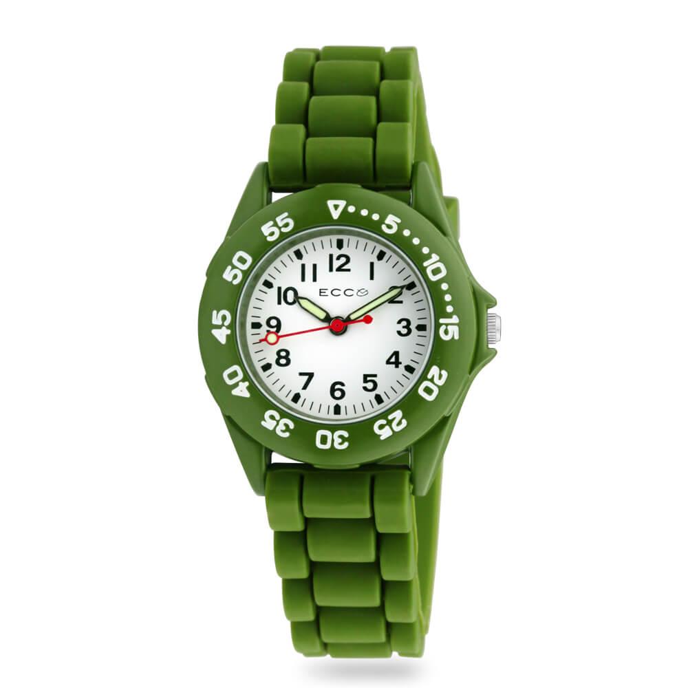 ECC Kids Green Silicone Strap Watch