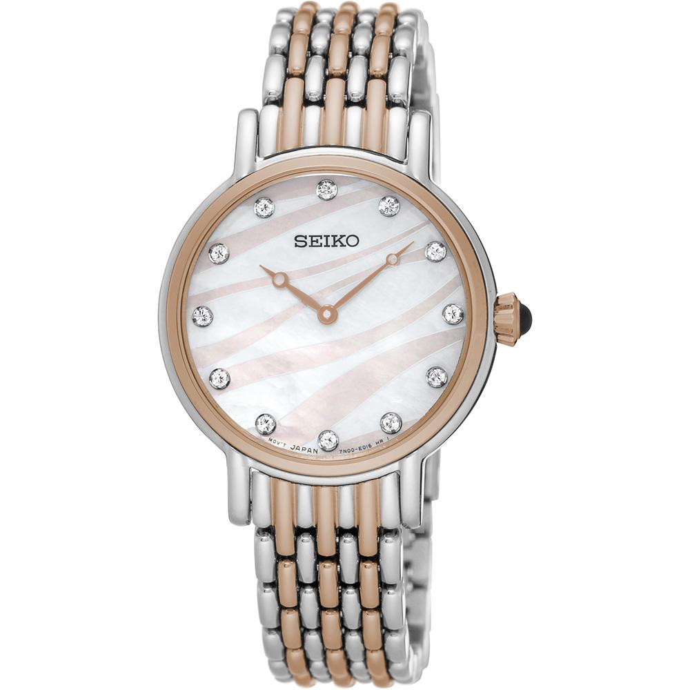 Seiko SFQ806P Crystal Set Womens Watch