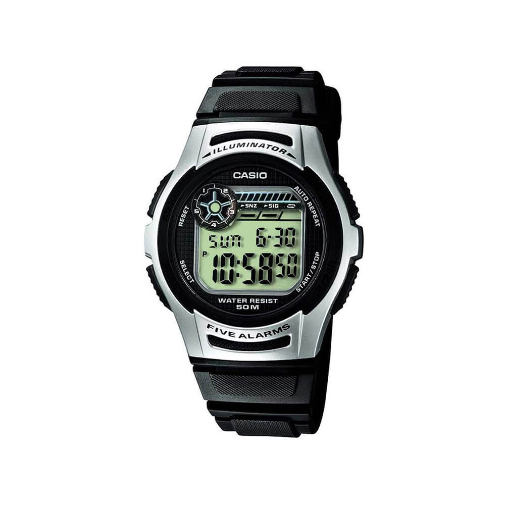 Casio W213-1 Five Alarms Mens Watch