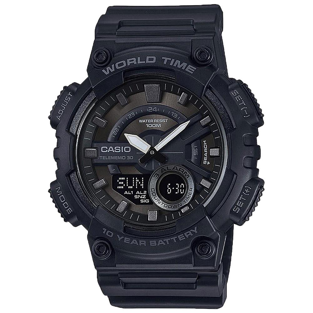 Casio AEQ110W1BV World Time Mens Watch