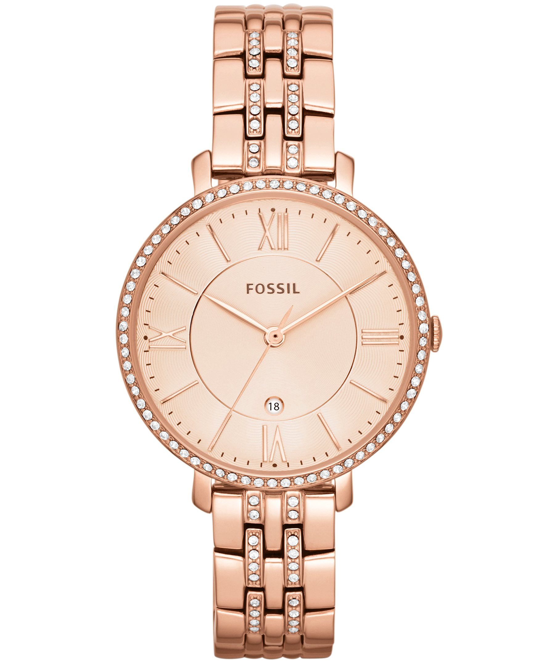 Fossil Jacqueline ES3546 Rose Gold Tone Watch