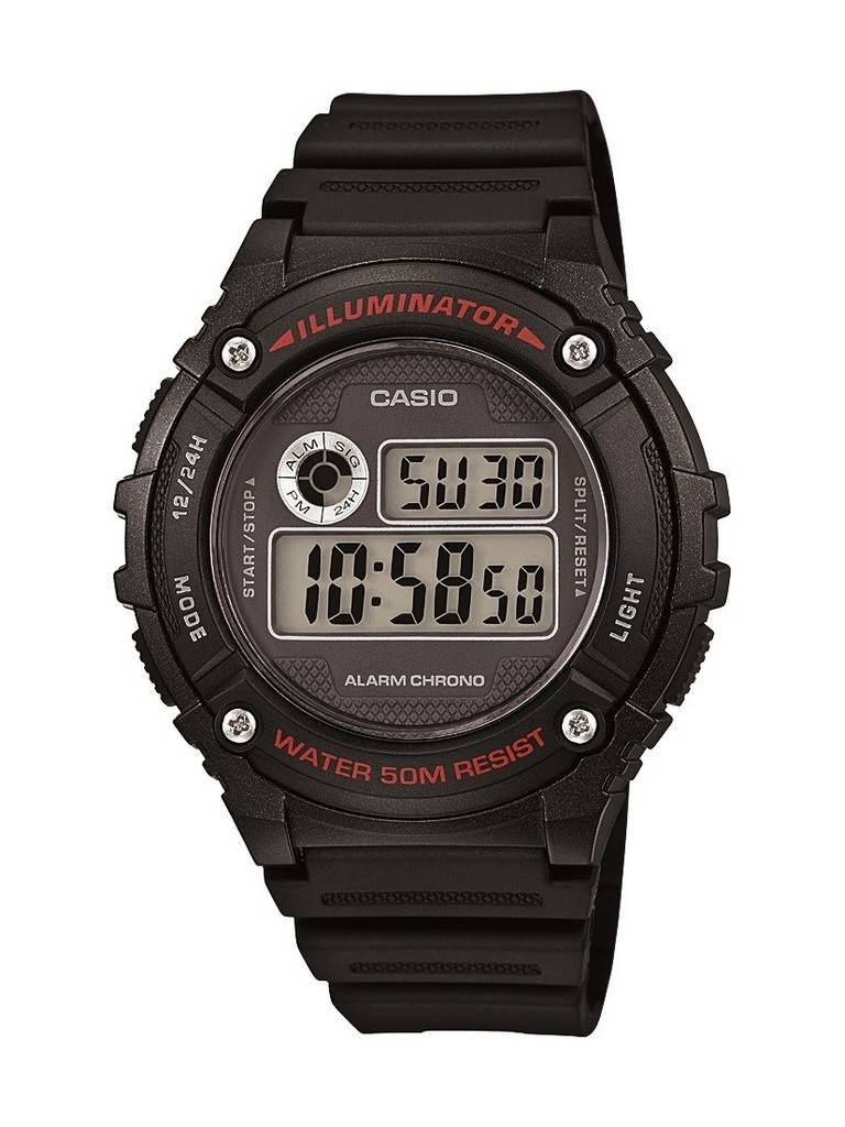 Casio Digital Alarm W216H-1A Unisex watch