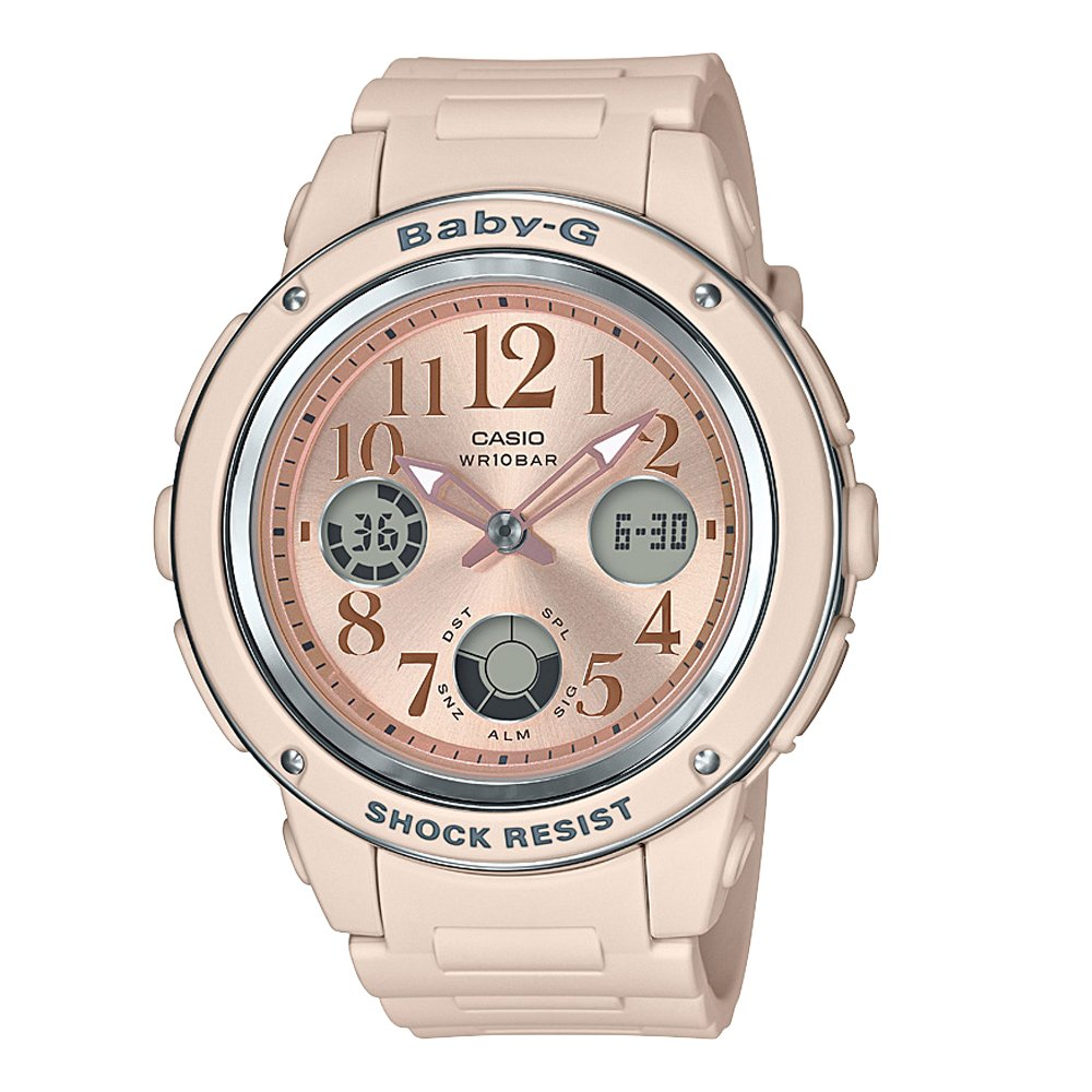 Baby G BGA150CP-4B Rose Gold Ladies Watch