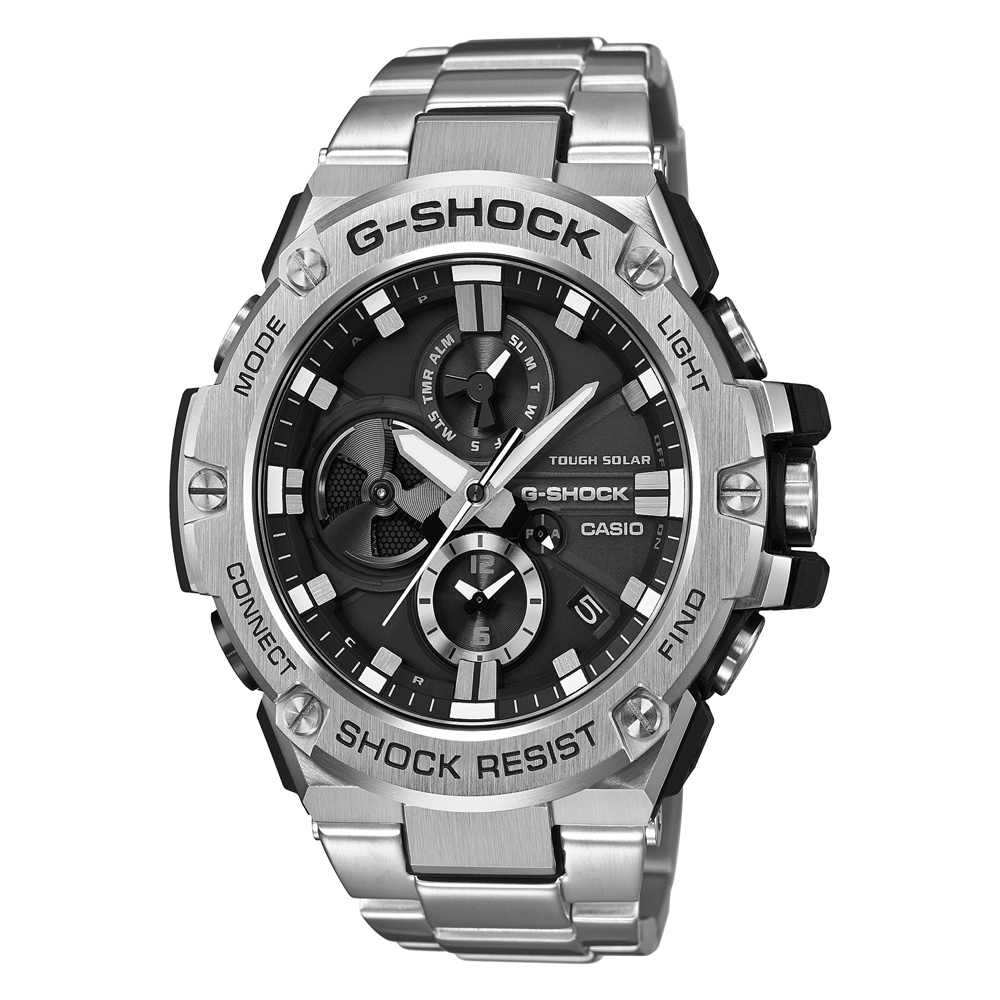 Casio G Steel Solar Bluetooth GSTB100D-1A9 Mens Watch