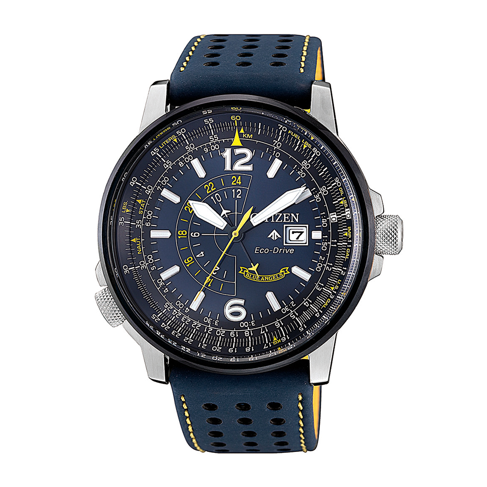 Citizen BJ7007-02L Promaster Stainless Steel Mens Watch With Blue Band