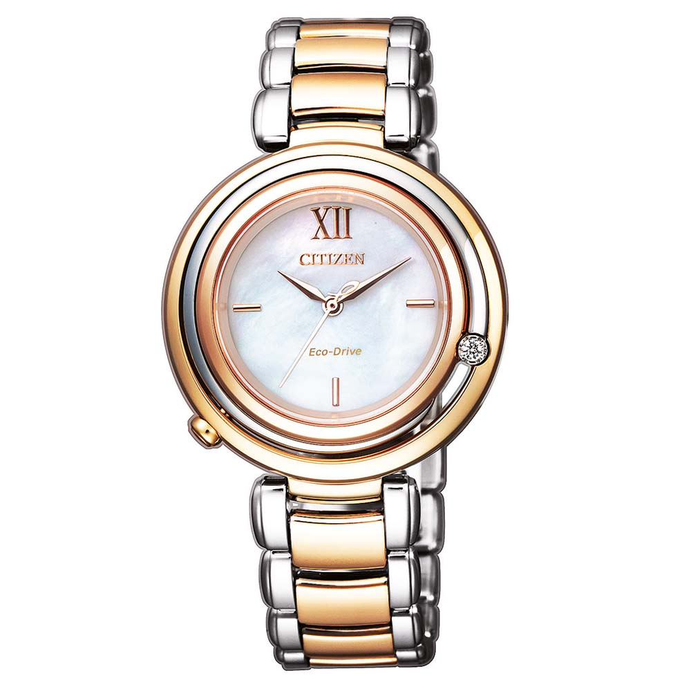 Citizen Eco-Drive Jewel Top EM0654-88D Two-Tone Stainless Steel Womens Watch