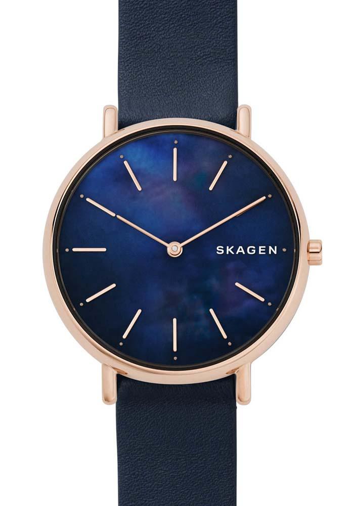 Skagen Signatur SKW2731 Blue Leather Womens Watch