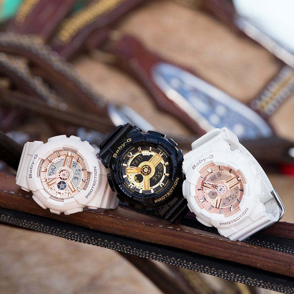 Baby-G  BA11ORG-7A White Resin Womens Watch