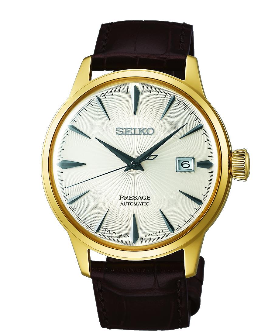 Seiko Presage SRPB44J Brown Leather Mens Watch