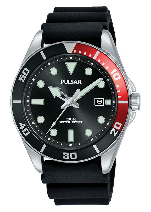 Pulsar PG8297X Black Silicone Mens Watch