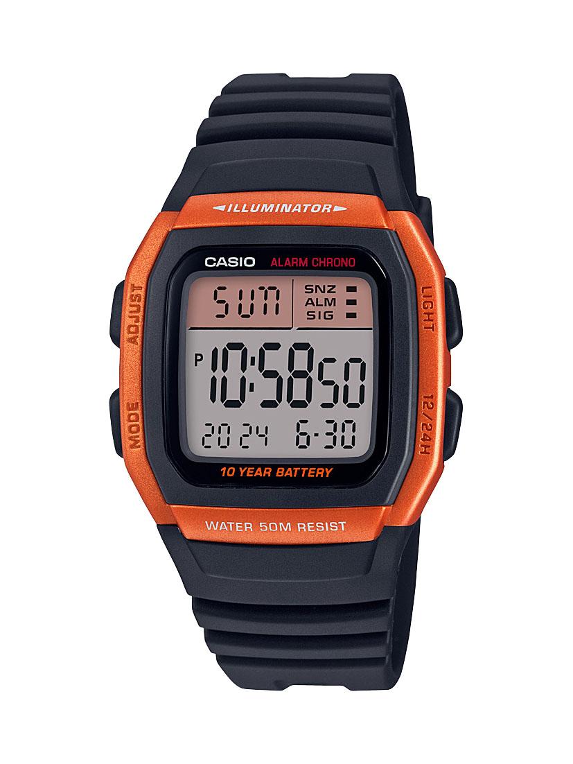 Casio W96H-4A2 Digital Black Resin Youth Watch