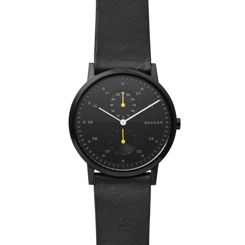 Skagen Kristoffer SKW6499 Black Leather Mens Watch