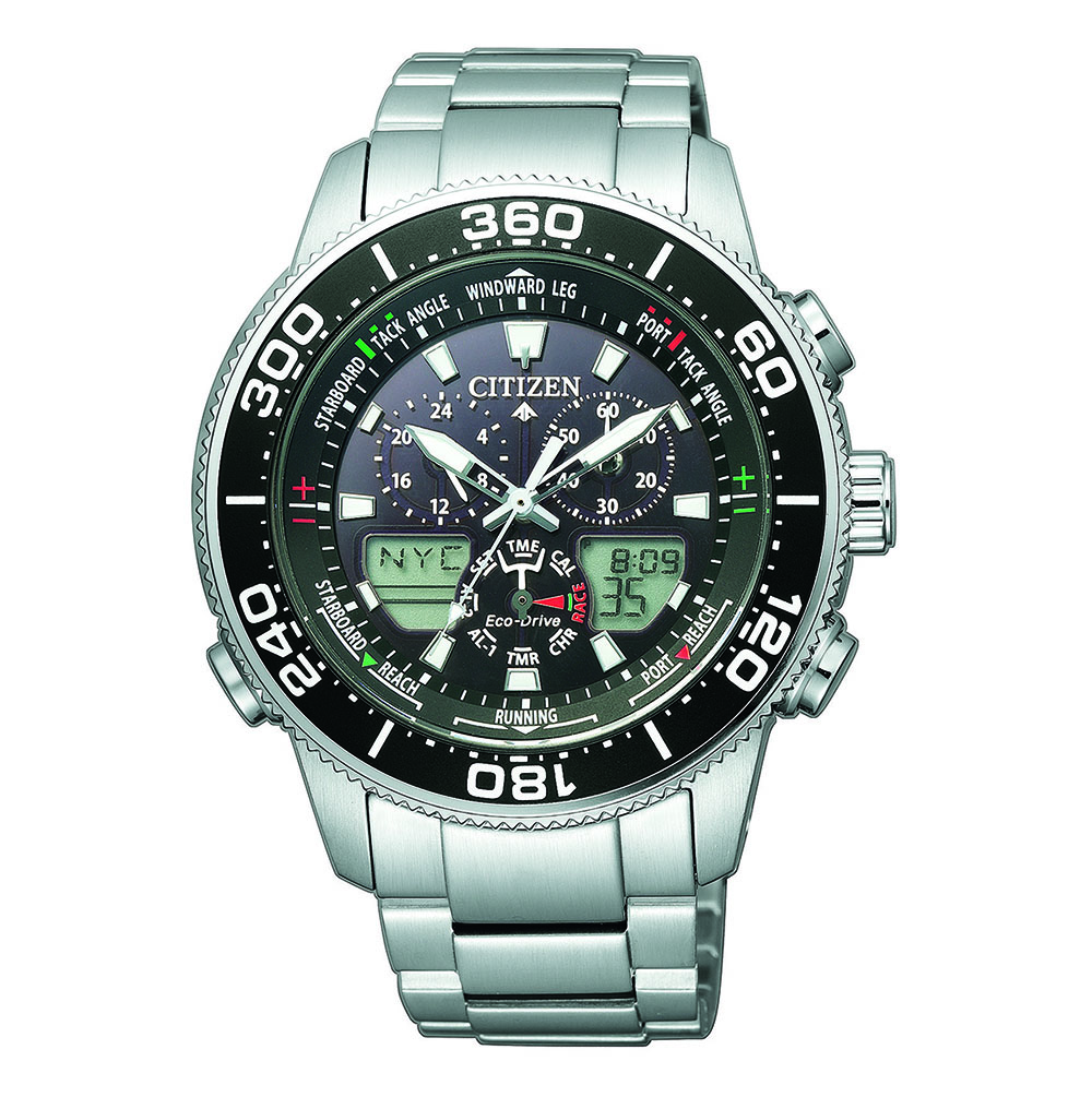 Citizen Promaster JR4060-88E Silver Stainless Steel Mens Watch