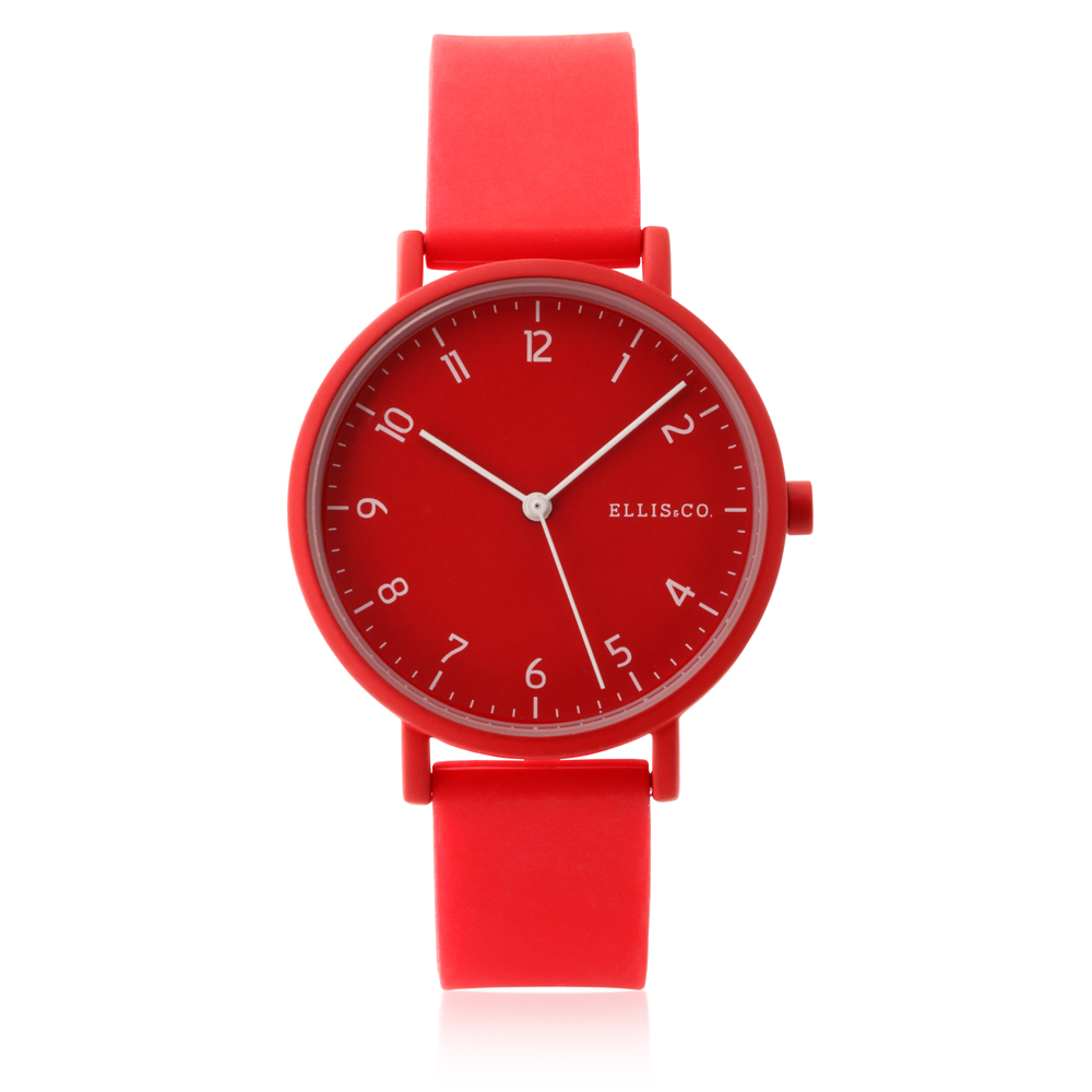 Ellis & Co Logan Red Silicone Watch